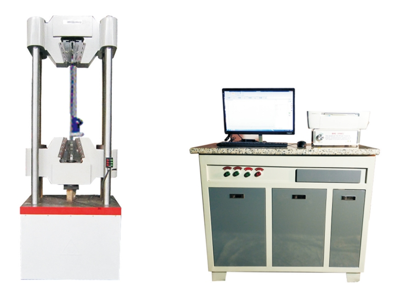 WAW Series Microcomputer Controlled Electro-hydraulic Servo Universal Testing Machine strand